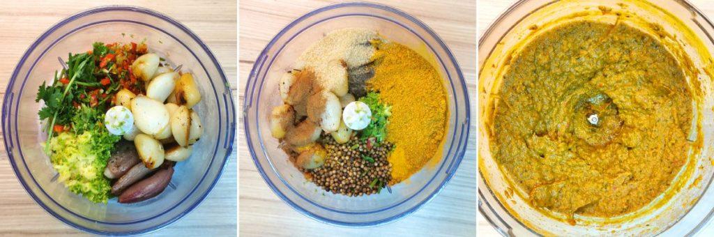 Žltá kari pasta recept - mixovanie surovín