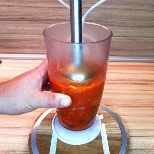 Mixovanie paradajkovej polievky